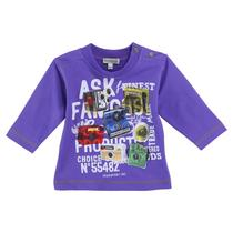 Round neck Camera Sweatshirt Boys Purple