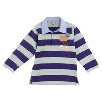 Long Sleeve Striped Polo Shirt Boys