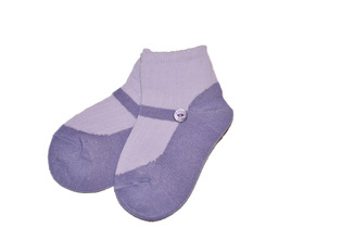 Lchausson - Lavender socks in a shoe pattern