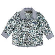 Aqua Floral Long Sleeve Tshirt - Cool & Chic (Tiny)