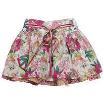 Floral on a white background skirt Paradis d'enfant