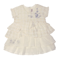 Bisty - Off White Short Sleeve Tiered Dress - Bubble