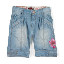Indigo denim bermuda shorts - Spirit Ethnique