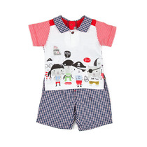 Gang of Pirates t-shirt and checked shorts outfit - Urban