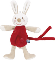 Red Rabbit Pacifier / Dummy Holder Red