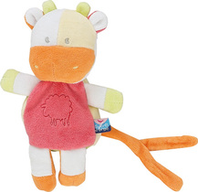 Orange Cow Pacifier / Dummy Holder