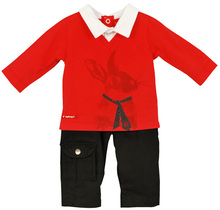 Rabbit Trousers Set Red - Mr Berlingot