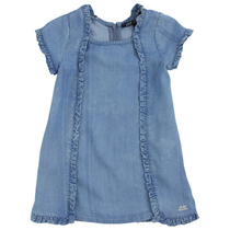 Lalysse denim blue short sleeve dress girl
