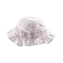 White and pink floral hat
