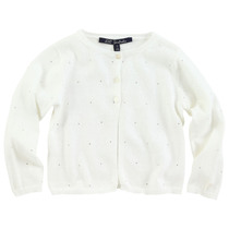Lueur 1 white cardigan with sparkles