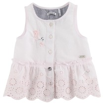 Ecru sleeveless top girl