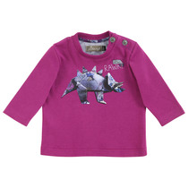 Aubergine Paper Dinosaur Long Sleeve Top - Cool & Chic (Tiny)