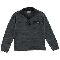 Black Long Sleeve Polo - Cool & Chic (Kid)