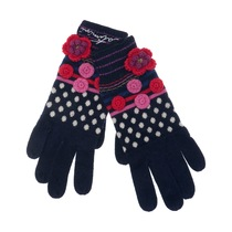 Polka Dot and Floral Gloves - Spirit Ethnique