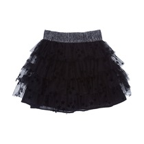 Star-speckled Black Tulle Skirt - Spirit Couture