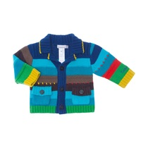 Green and Blue Striped Knitted Cardigan - Spirit Couleur
