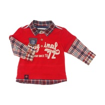 Red Checked Polo Shirt - Urban Global Mix