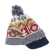Knitted Woollen Hat with Peak - Urban Global Mix