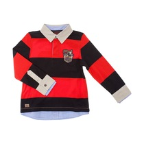 Scarlet and Black Striped Polo Shirt - Spirit