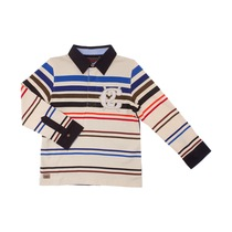 """C2"" Blue and Red Striped Polo Shirt - Spirit"