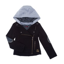 Black Zip-Up Jacket with Hoodie - Labo