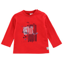 "Red ""Star Spangled Banner"" Top - Navy Boy"