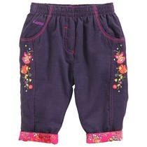 Blueberry Flower Trousers - La Bonne Aventure