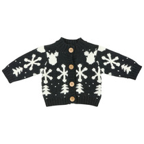 Black And White Snowflake Jersey - Grand Nord