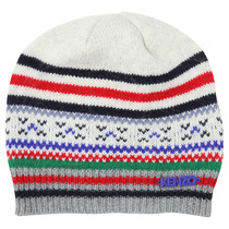 Off-White, Red, Green Knitted Hat - La Piste Aux Etoiles