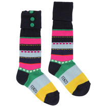 Pink, Black and Blue Long Socks - La Piste Aux Etoiles
