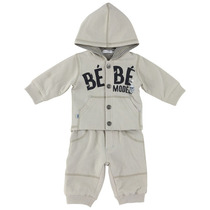 Bebe charcoal and grey reversible padded tracksuit with hood - Chic Spirit