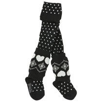 Black polka dot stockings with heart legwarmers - Fete