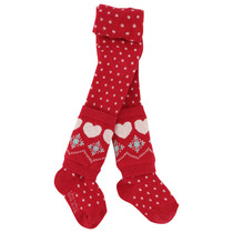 Red polka dot stockings with heart legwarmers - Grand Nord