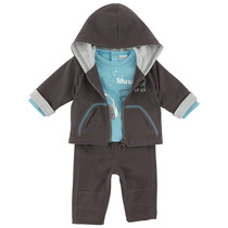 "3 Piece Chocolate ""Music"" Tracksuit + Turquoise Top - Soft Rebellion"