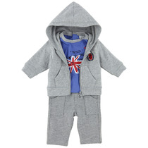 "3 Piece Grey Tracksuit + Blue ""Born to be Cool"" Top- Cargo"