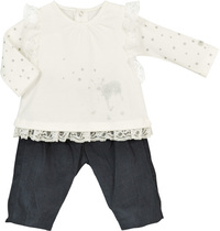 Little Doe Outfit with Lace and Bows - Feerie D'Hiver