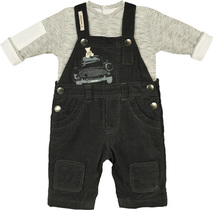 Travelling Teddy Dungaree Outfit - Vintage Attitude