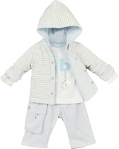 "3 Piece ""Bb"" Blue Trousers Outfit - Beautiful Baby"