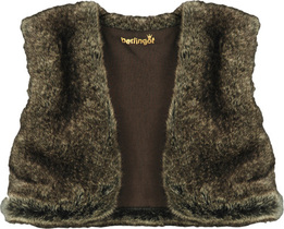 Taupe Fur Waistcoat - Feerie D'Hiver