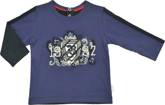 """1992"" Crest Indigo Top - Moderne Sailor"
