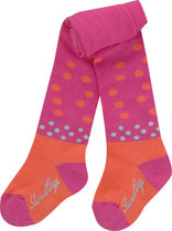 Patterned pink and orange tights-bouquet de roses