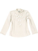 Line - Ecru Long Sleeve Top - Les Demoiselles de Paris