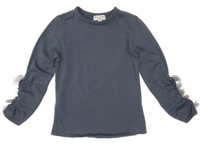Nina - Grey Long Sleeve Top - Prima Ballerina