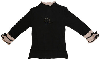 "Mounia - Black ""E.L"" Long Sleeve Top -  Les Demoiselles de Paris"