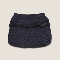 Lightly Spotted 2 Layer Navy Skirt - Cargo
