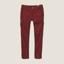 Red Skinny Denims with Asymmetrical Zips - Little Miss Sunshine