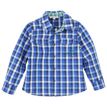 Blue Checked Shirt - La Piste Aux Etoiles