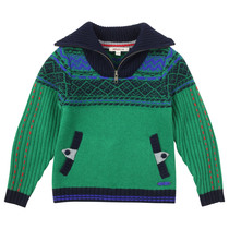 Green Knitted Pullover - La Piste Aux Etoiles