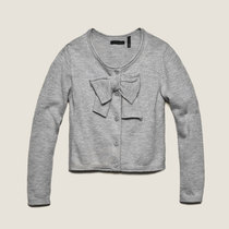 Light Grey Big Bow Cardigan - My IKKS Dress