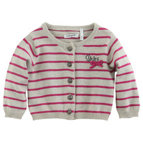Pink Knitted Striped Hot Air Balloon Cardigan - City Chic